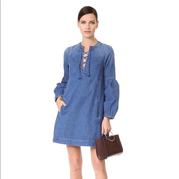 Ulla Johnson short denim dress Sale Prices n4D89N5